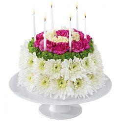Birthday Flower Cakes