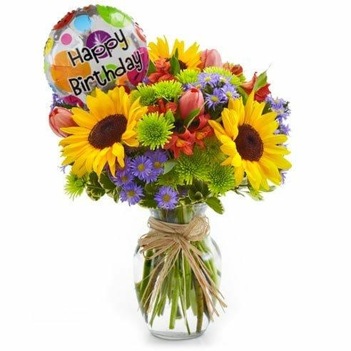 Happy Birthday Sunflower Bouquet